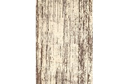 """10'x13'1"""" Rug-Cream And Brown Faux Bois"""