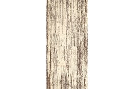 34X94 Rug-Cream And Brown Faux Bois