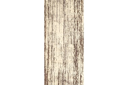 34X94 Rug-Cream And Brown Faux Bois - Main