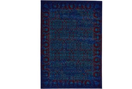 26X48 Rug-Vibrant Blue And Red Tapestry