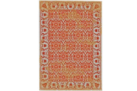 96X132 Rug-Vibrant Orange And Yellow Tapestry - Main