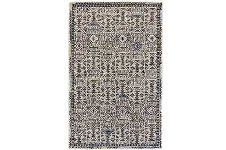 60X96 Rug-Kiwi And Blue Native Print