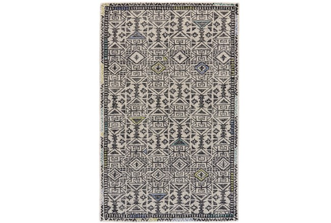 60X96 Rug-Kiwi And Blue Native Print - 360