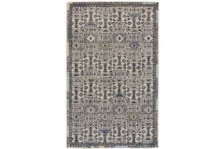 96X132 Rug-Kiwi And Blue Native Print
