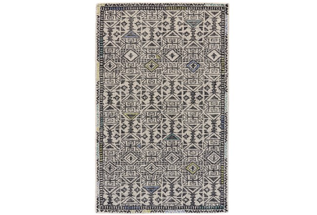96X132 Rug-Kiwi And Blue Native Print - 360