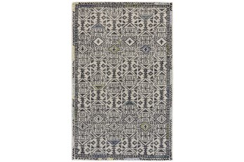 "9'5""x13'5"" Rug-Kiwi And Blue Native Print"