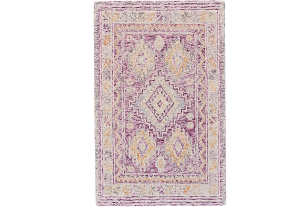 96X132 Rug-Magenta Traditional Native Print
