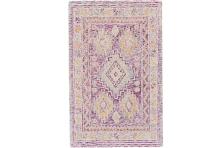 96X132 Rug-Magenta Traditional Native Print