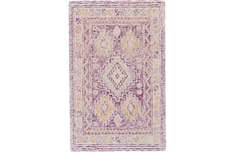 114X162 Rug-Magenta Traditional Native Print