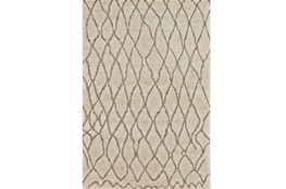 2'x3' Rug-Undyed Natural Wool Organic Cross Hatch