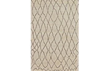 24X36 Rug-Undyed Natural Wool Organic Cross Hatch