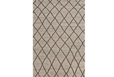 93X117 Rug-Undyed Natural Wool Cross Hatch