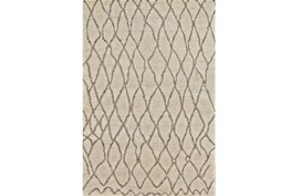 93X117 Rug-Undyed Natural Wool Organic Cross Hatch