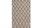 102X138 Rug-Undyed Natural Wool Cross Hatch - Signature