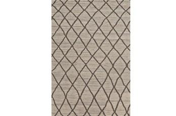 114X162 Rug-Undyed Natural Wool Cross Hatch