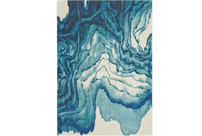 60X96 Rug-Cobalt Watercolor Tide - 360