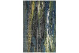 5'x8' Rug-Cobalt And Yellow Faux Bois