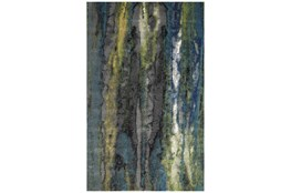 8'x11' Rug-Cobalt And Yellow Faux Bois