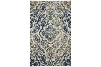 8'x11' Rug-Cobalt And Yellow Large Medallion