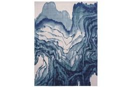 "10'x13'1"" Rug-Cobalt Watercolor Tide"