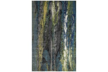 """10'x13'1"""" Rug-Cobalt And Yellow Faux Bois"""