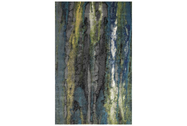 """10'x13'1"""" Rug-Cobalt And Yellow Faux Bois - 360"""