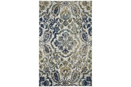 """10'x13'1"""" Rug-Cobalt And Yellow Large Medallion"""