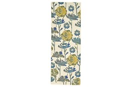 "2'8""x7'8"" Rug-Cobalt And Yellow Floral"