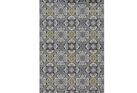 26X48 Rug-Grey And Yellow Traditional Medallions