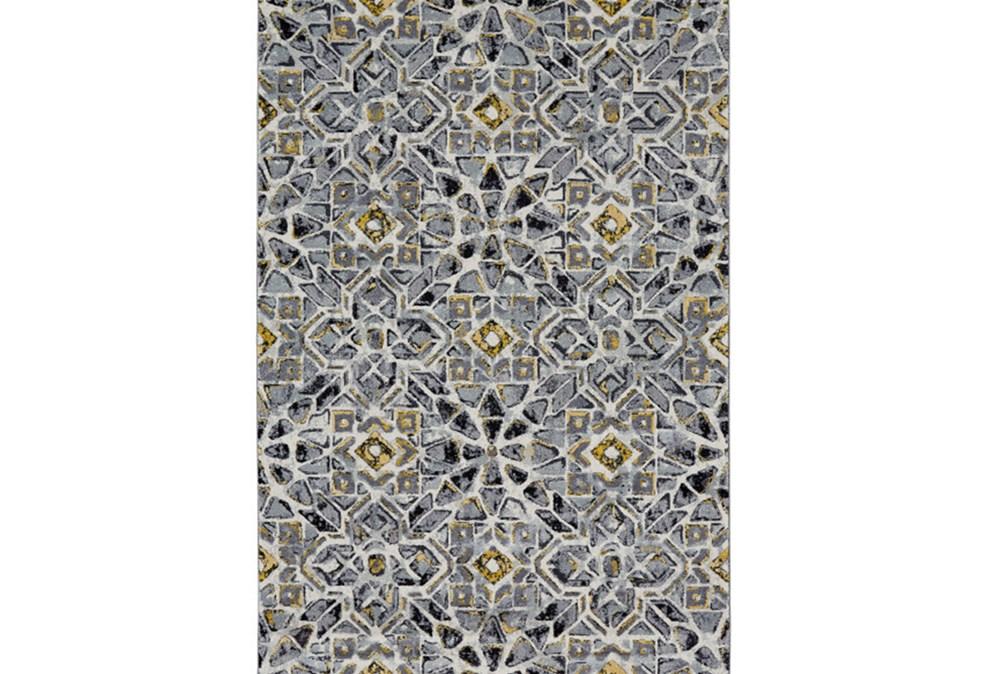 26X48 Rug-Grey And Yellow Moroccan Tile