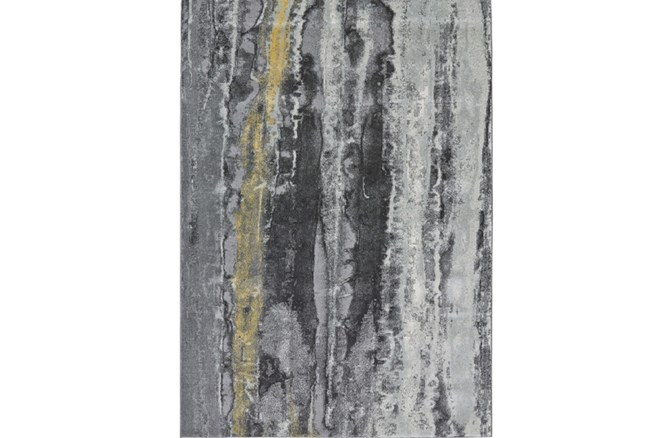 60X96 Rug-Grey And Yellow Faux Bois - 360