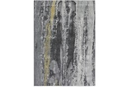 5'x8' Rug-Grey And Yellow Faux Bois