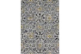 60X96 Rug-Grey And Yellow Moroccan Tile