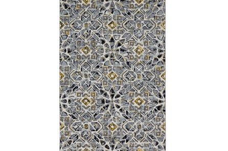 60X96 Rug-Grey And Yellow Moroccan Tile - Main