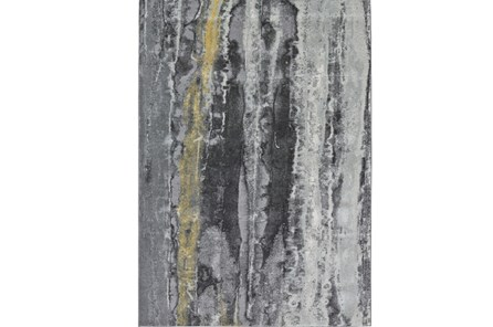 96X132 Rug-Grey And Yellow Faux Bois - Main