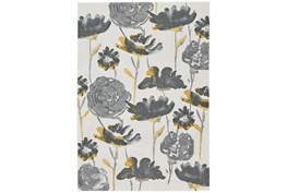 8'x11' Rug-Grey And Yellow Floral