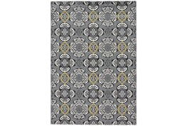 8'x11' Rug-Grey And Yellow Traditional Medallions