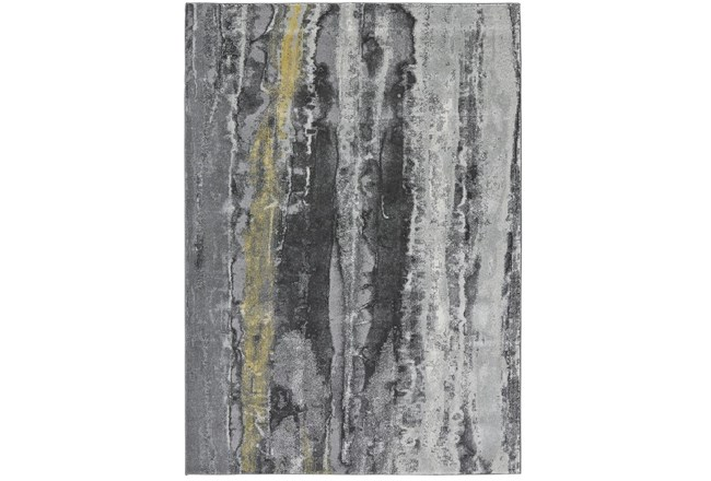 """10'x13'1"""" Rug-Grey And Yellow Faux Bois - 360"""