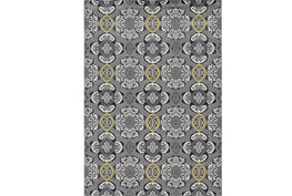 120X158 Rug-Grey And Yellow Traditional Medallions