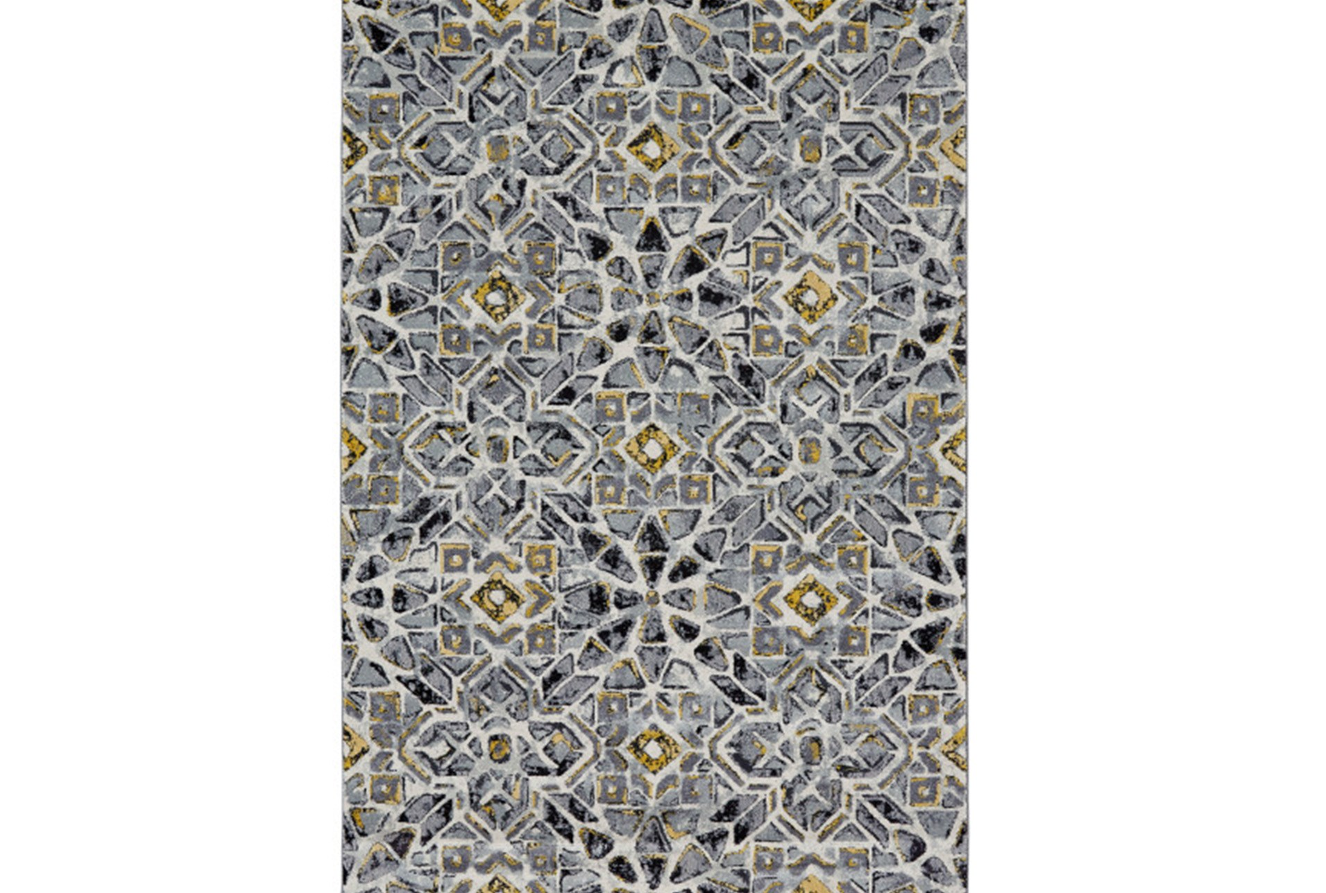 120x158 Rug Grey And Yellow Moroccan Tile Qty 1 Has Been Successfully Added To Your Cart