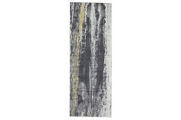 """2'8""""x7'8"""" Rug-Grey And Yellow Faux Bois"""