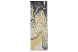 "2'8""x7'8"" Rug-Grey And Yellow Marbled Swirl"