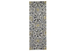 "2'8""x7'8"" Rug-Grey And Yellow Moroccan Tile"