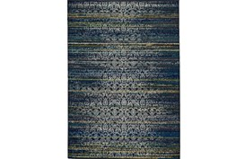96X132 Rug-Cobalt Distressed Tapestry