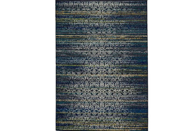 96X132 Rug-Cobalt Distressed Tapestry - 360