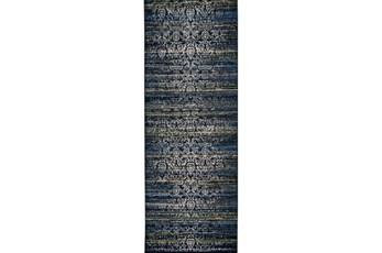 "2'8""x7'8"" Rug-Cobalt Distressed Tapestry"