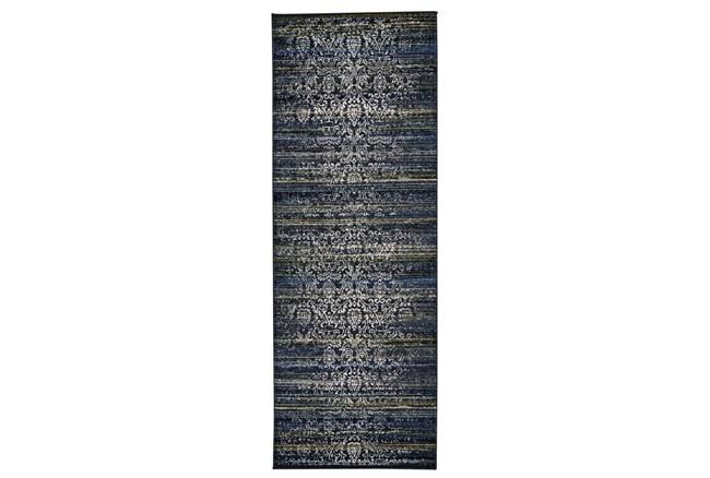 "2'8""x7'8"" Rug-Cobalt Distressed Tapestry - 360"