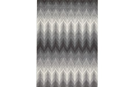 26X48 Rug-Charcoal Ombre Flamestitch