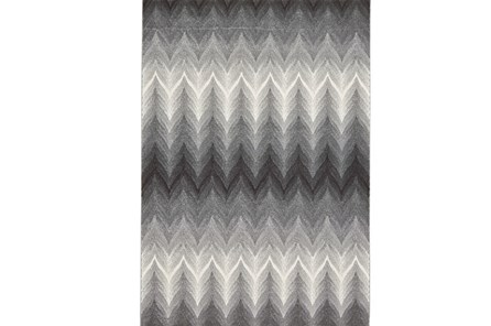 26X48 Rug-Charcoal Ombre Flamestitch - Main