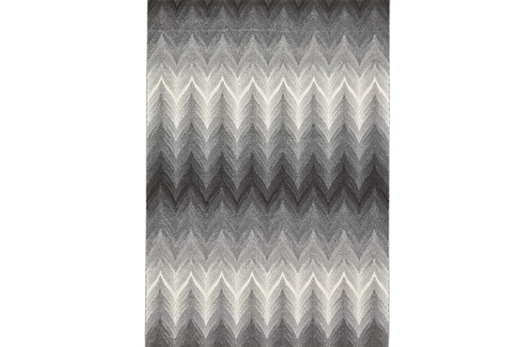 60X96 Rug-Charcoal Ombre Flamestitch